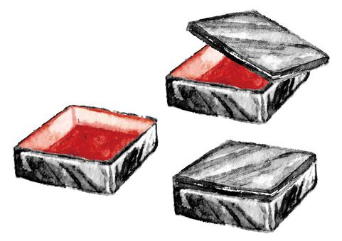 """Watercolor style"" heavy box"