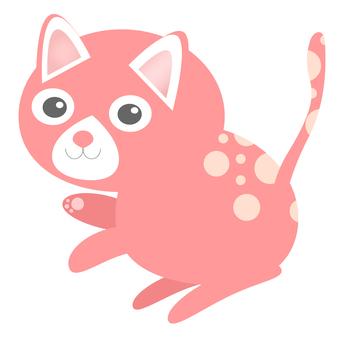 Cat (pink polka dots)