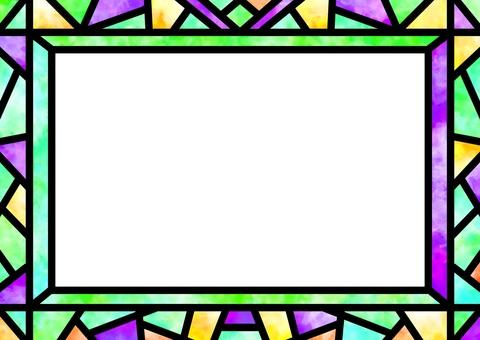 彩色玻璃框架