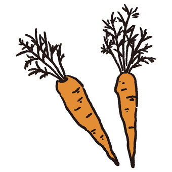Hand-drawn carrot