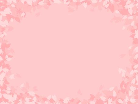 Simple cherry petals background
