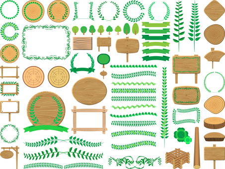 Green and tree set