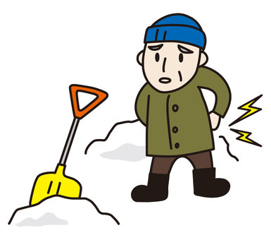 A senior citizen with snowplow hurt
