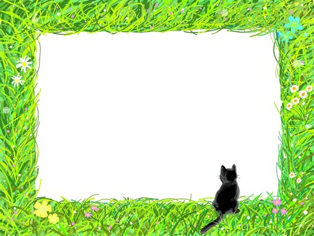 Wild grass frame series (black cat version)