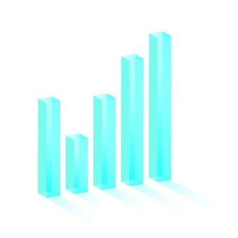 3D solid bar chart 1