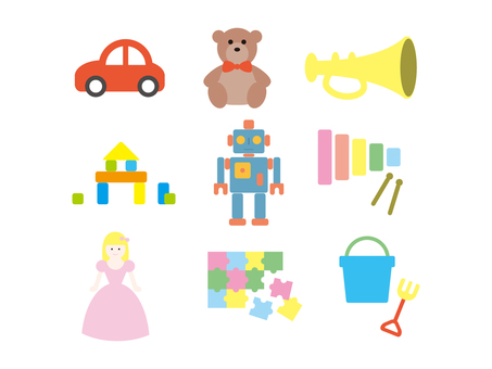 おもちゃ(玩具)のイラストセット_線なし
