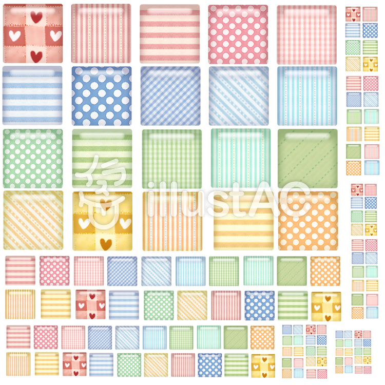 四角アイコンセット1のイラスト