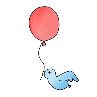 Balloons and birds