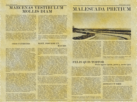 Wallpaper * English letter newspaper (retro)