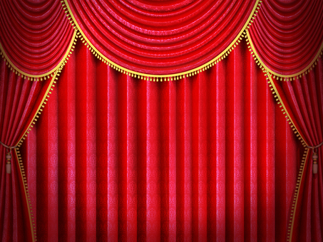 Shaded stage red curtain wallpaper frame