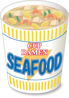 Cup noodle seafood _ without cover