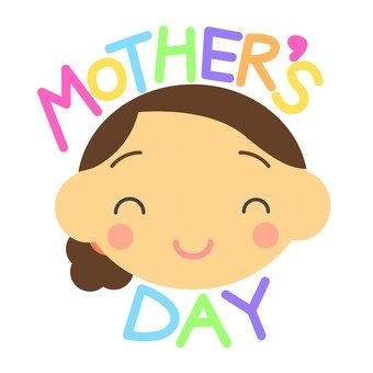 Mother's Day logo and mama's smile