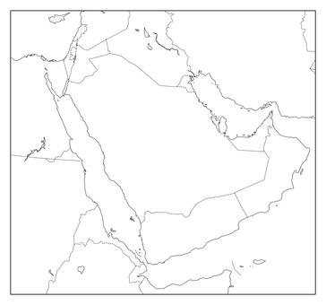 Saudi Arabia blank map