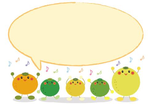 citron_ citrus faces 6 face-up speech bubble