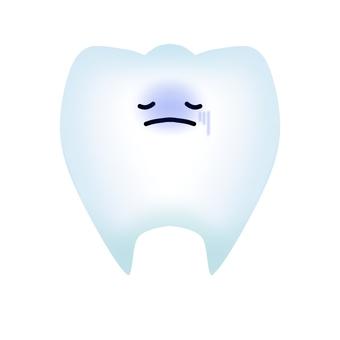 건강에 해로운 치아 캐릭터 (윤곽선 없음)