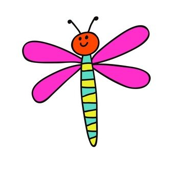 Pink feather dragonfly