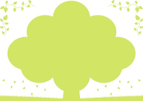 樹木 リーフフレーム