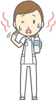 Female nurse - hot - whole body