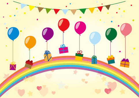 Balloons and present decoration party