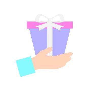 手 - 手帶禮物(紫色)