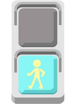 Pedestrian traffic light (blue)