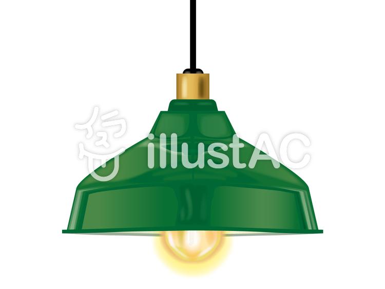 レトロ風ランプのイラスト
