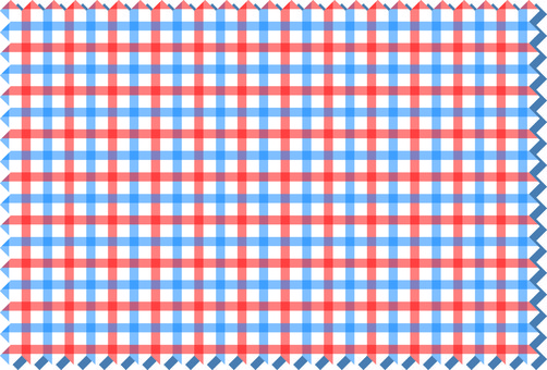 Gingham check / blue red