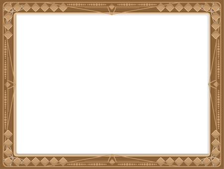 Simple frame border brown