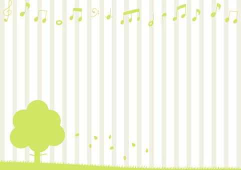 自然の風景 音符 ストライプ背景