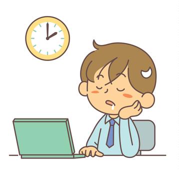 辦公時間男人睡覺