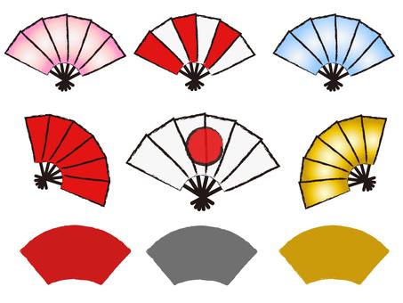 Japanese style New Year material Fan Oigagi
