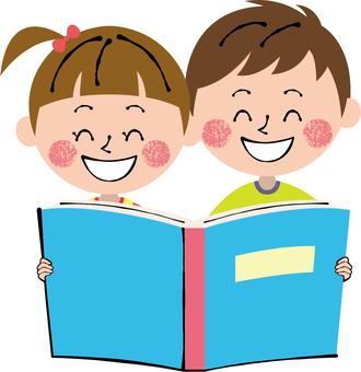 Smile picture book light blue men and women children bookstore