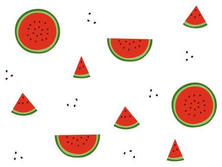Watermelon Wallpaper 01 (Background / Seamless)