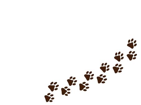Animal footprints dog cat