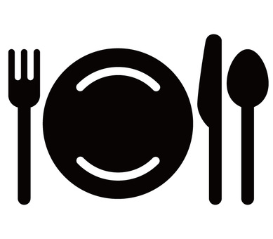 Rounded knife fork icon 01
