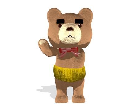 Teddy bear · old man