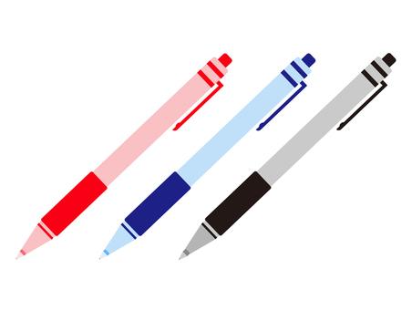 Three ballpoint pens