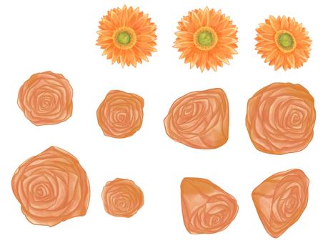 거베라와 갈색 장미 (1)