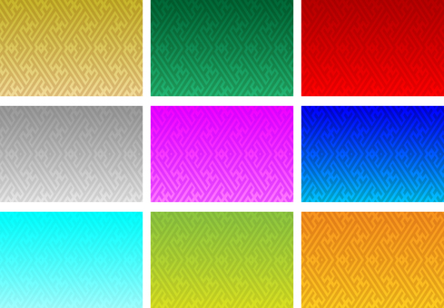 9 colors Japanese style background 161112