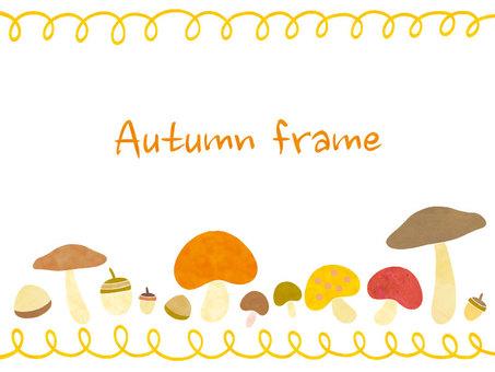 Mushroom autumn frame 01