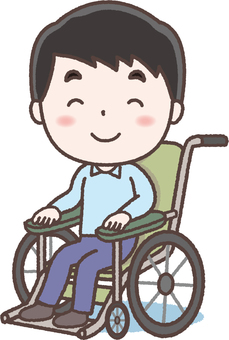 Wheelchair young man
