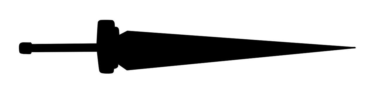 Sword Silhouette material