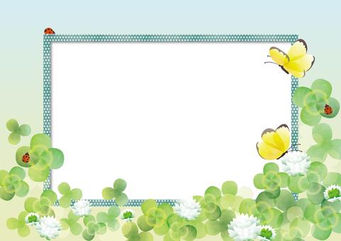 Clover frame 3 Ladybug