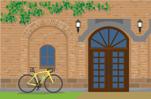 Brick building and road bike 2