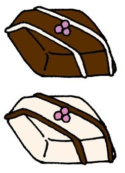Handmade bite chocolate
