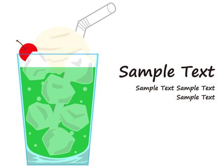 Illustration of soda float