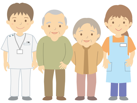 Elderly people and care workers