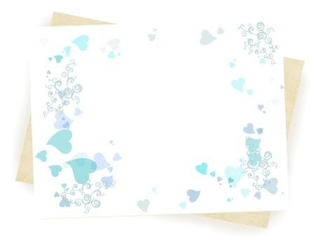 Heart Frame 6 Blue