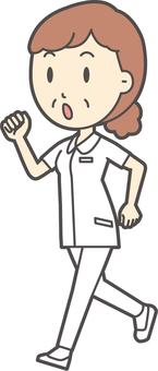 中年女護士白大衣-284-全身