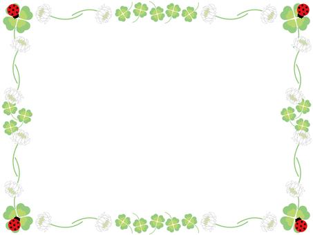 Clover and white clover frame